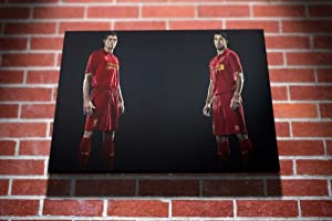 Steven Gerrard Luis Suarez Liverpool FC Football Gallery Framed Canvas Art Picture Print by I Art Box