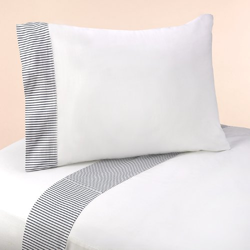 Navy And White Striped Bedding 6057 front