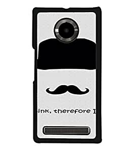 PrintVisa YUPHORIA-Hat Moustache Silhouette Design Metal Back Cover for YU Yuphoria