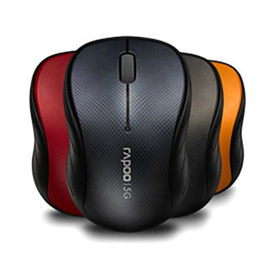 Peach Rapoo 3000P 5.8G Superstrong Anti-Interference Wireless Mouse 1000 Dpi