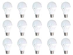 RB Twist & Lock 7 Watt LED Bulb (Pack of 15, White)