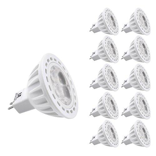 Le Pack Of 10 Units 4W Gu5.3 Mr16 Led Bulb, Equal To 50W Halogen Bulb, 12 Vac/Dc, Cutting Edge Design, 310Lm, Warm White