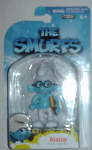 Picture of Jakks Pacific The Smurfs Movie Grab Ems Mini Figure Brainy (B005FND0Y0) (Jakks Pacific Action Figures)