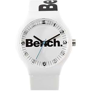 Bench - BC0386WHA - Montre Mixte - Quartz Analogique - Bracelet Plastique Blanc
