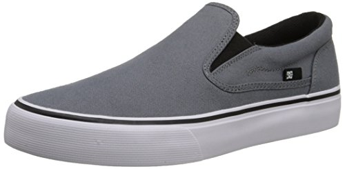 DC Men's Trase Slip-On TX Skate Shoe, Grey, 11.5 M US