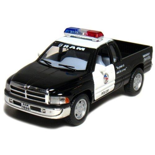 5-dodge-ram-police-pickup-truck-144-scale-black-white