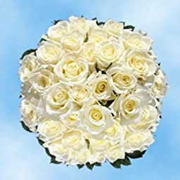 100 Mother\'s Day Flowers Deals Fresh Cut White Roses