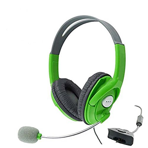 Jusp (Tm), Xbox 360 Gaming Headset, Xb890Xbox Amplified Stereo Sound Beach Ear Force Universal Elite Gaming Headset For Xbox 360 [ Green ] + 1 Stylus Ballpoint Pen Christmas Gift