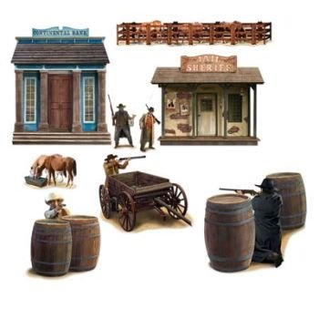 Beistle Company - Wild West Shootout Props Wall Add-Ons