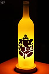 Kavi Ganesha Glass Lamp - (Fluorescent Yellow)