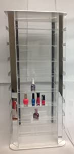 Rotating Nail Polish Display Holds 200 Bottles