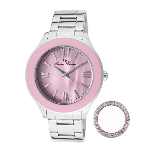 Lucien Piccard Women's 11662-105MOP Gran Paradiso Pink Mother-Of-Pearl Dial Stainless Steel Watch