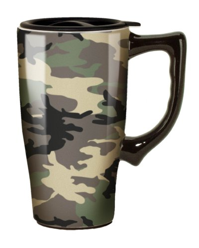 Spoontiques Camouflage Travel Mug, Green (Camouflage Coffee Mug compare prices)
