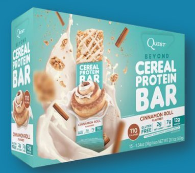 Quest Nutrition BEYOND CEREAL Bars 15 Bars 110 Calories 12 G Protein0736024512464 (Cinnamon Roll) (Quest Protein Cinnamon Roll compare prices)