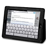 Apple iPad 3 PU Leather Wallet Case / Pouch / Cover / Skin - Black By Terrapin Part Of The Qubits Accessories Rangeby Qubits