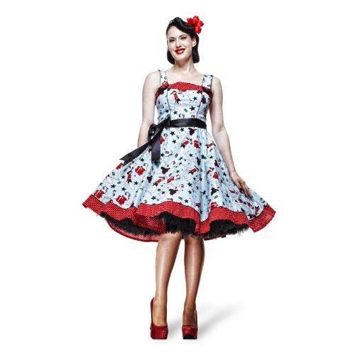 Vestito donna - Dixie - Rockabilly - Anni '50 - Vestito Rock'n roll - XS