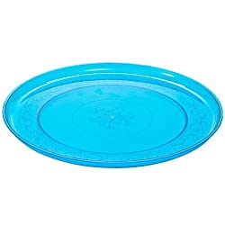 Party Dimensions Plastic Tray, 12-Inch, Blue