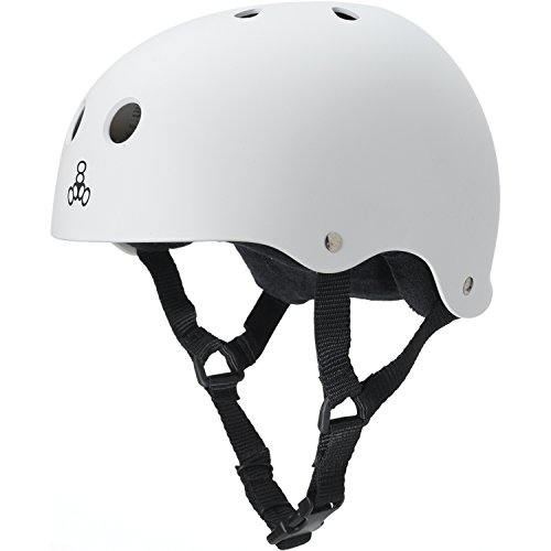 Triple-8-Brainsaver-Rubber-Helmet-with-Sweatsaver-Liner-White-Rubber-Small