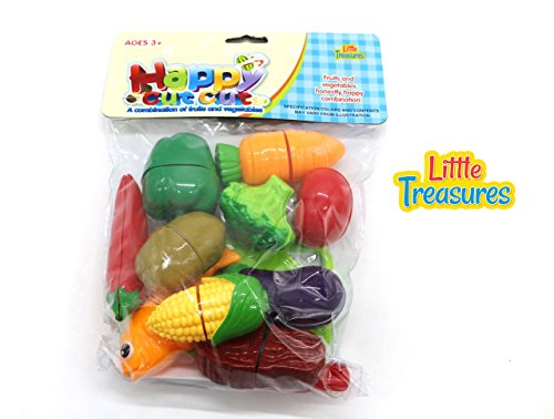Little Food Toys : Little treasures pcs kitchen kids play cutting fruits