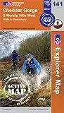 Cheddar Gorge & Mendip Hills West OS Explorer - Active Map 141