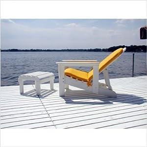 Bundle-86 Reclining Adirondack Chair & Footstool (6 Pieces) Finish: Hunter Green
