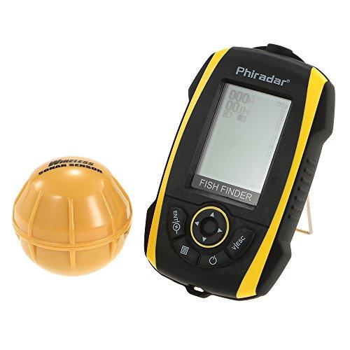 Docooler Détecteur de Poissons LCD Portable Profondeur Pêche Electronique Capteur Sondeur Audible Alarme de Poisson Rétro-éclairage LED