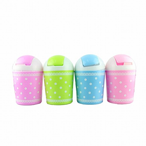 HP95 Hot Selling Fresh Lace Polka Dot Desktop Storage Barrels Creative Mini Trash Can wit (Desktop Trash Can compare prices)