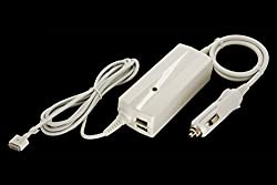 CyberTech MagSafe 2 85W Car Charger Adapter (20V 4.25A) For Apple MacBook Pro MD506LL/A A1424 Retina display, With 2x USB Charger Port