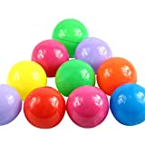 100pcs Colorful Fun Balls Soft Plastic Ball Pit Balls Baby Kids Tent Swim Toys Ball