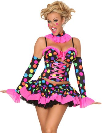 3WISHES 'Naughty Clown Costume' Sexy Clown Halloween Costumes for Women