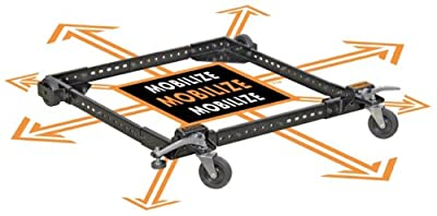 Adjustable Universal Mobile Base Portamate PM-1000. Move Your Heavy Tools and Equipment around Your Shop with Ease and Stability.
