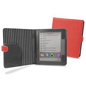 Cover-Up PocketBook Color Lux eReader Cover Case (Book Style) - Red at Electronic-Readers.com