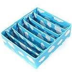 【全2色】下着収納ケース チェスト仕切りBOX 七つ仕切り 雲柄 ブルー(1325-1)