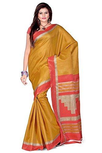 Cenizas Cotton Silk Saree (3303Gld _Gold)