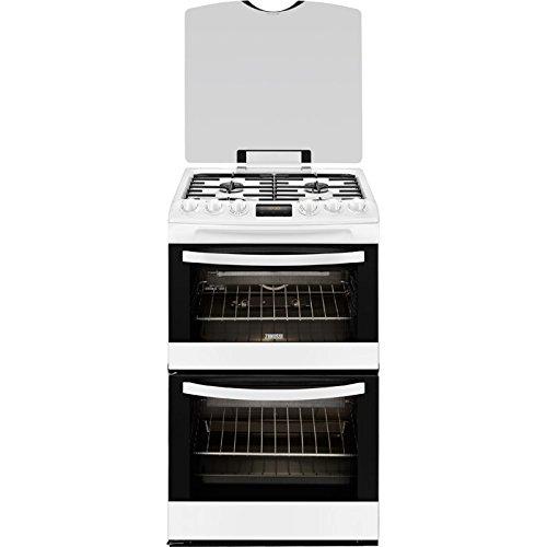 Zanussi ZCG43200WA White 55cm Double Oven Gas Cooker