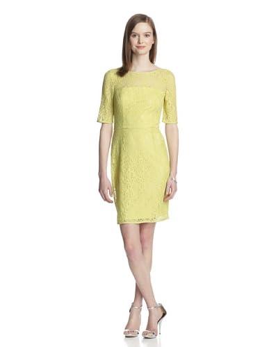 Muse Women's Lace Sheath Dress  [Chartreuse]