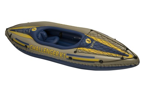 Intex Challenger K1 Kayak - Khaki/Blue