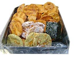 缶入り無選別草加煎餅 1kg 化学調味料、合成着色料、保存料未使用