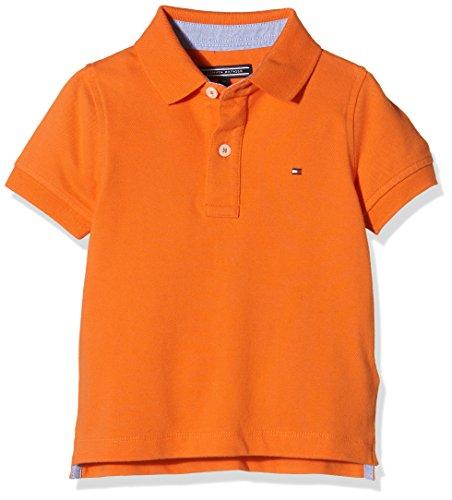 Tommy Hilfiger Fashion S/S, Polo Para Niños, Naranja (Tigerlily 804), 3 Años (Talla Del...