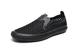 Mohem Men\'s Poseidon Slip-On Water Shoes(3177black46)