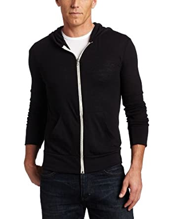 Alternative Men's Zip Hoodie Shirt, Black, 2X