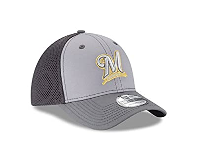 MLB Milwaukee Brewers Grayed Out NEO 39Thirty Stretch Fit Cap