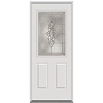 National Door Company ERP684HMN210SNRH Steel Heirloom Master Decorative Glass