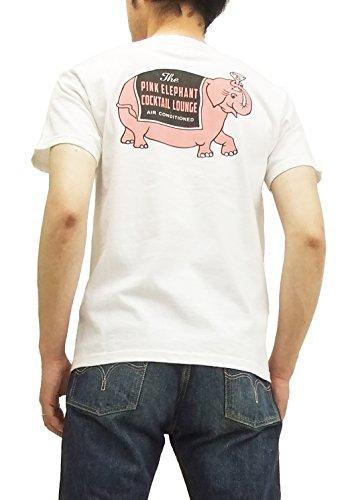(フェローズ) Pherrows Tシャツ 15S-PT18 Pherrow's PINK ELEPHANT メンズ 半袖tee ホワイト (M)