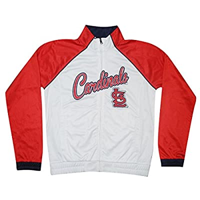 PLUS SIZE MLB ST. LOUIS CARDINALS Womens Zip-Up Warm Glitter Track Jacket