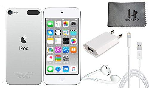 Apple iPod Touch 128 Go - Argent + Accessoires supplémentaires 6ème génération **Nouveau Modèle Juillet 2015**