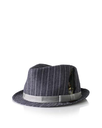 Ben Sherman Men's Striped Chambray Trilby Hat
