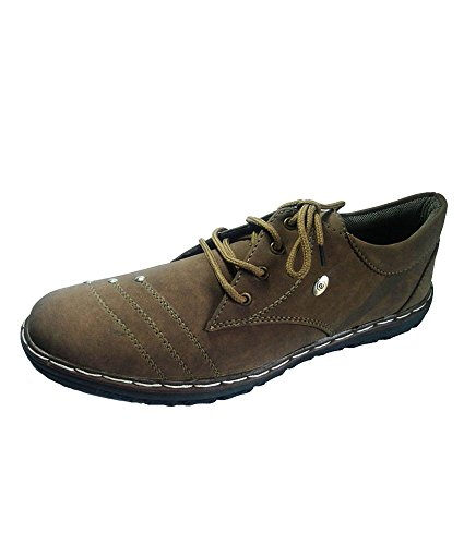 Id New Id Men's Stylish Suede Leather Brown Shoes 8UK