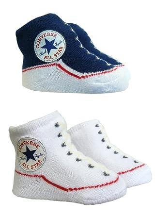 Converse Baby Booties Socks - Navy / White