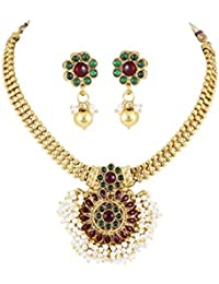 Karatcart 22K Goldplated Traditional Jewellery Set For Women - B01DGEVB18